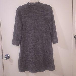 3/4 sleeved mock turtleneck dress